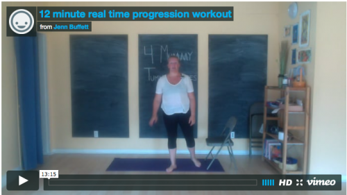 Baby Mama Fit Club – 12 minute real time progression workout